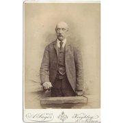 Cabinet Photograph Card, Older Bald-Headed Gentleman, Sager