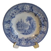 Blue Transferware Soup Plate BOSPHORUS, James Jamieson & Co.