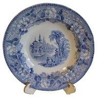 Blue Transferware Soup Plate BOSPHORUS, James Jamieson & Co.