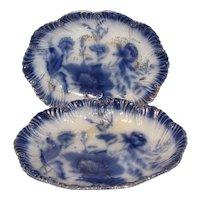 Lovely Flow Blue Oval Bowl, FOLEY, Barker & Kent, Ltd.