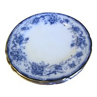 Group of 6 Flow Blue Dinner Plates ELSIE Hulme & Christie