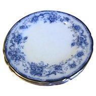 Group of 6 Flow Blue Dinner Plates ELSIE Hulme & Christie