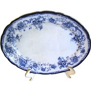Small Flow Blue Platter Hulme & Christie ELSIE 1893-1902
