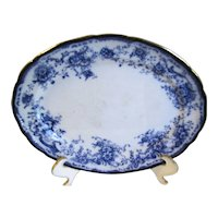 Small Flow Blue Platter ELSIE Hulme & Christie Staffordshire Pottery