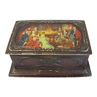 Art Nouveau British Biscuit Tin, MOZART, MacFarlane Lang & Co.