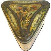 CA 1893 Antique British Biscuit Tin Huntley & Palmers, VILLAGE