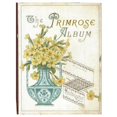Title Page from Victorian Photograph Album, PRIMROSE