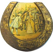 Circa 1905-1910 Horseshoe Shaped Biscuit Tin, Farrows Patent