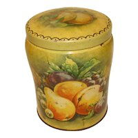 Vintage Toffee Tin, THORNE'S, Fruit Still Life