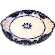 Lovely Antique Flow Blue Platter, ALBANY, Johnson Bros. c. 1900