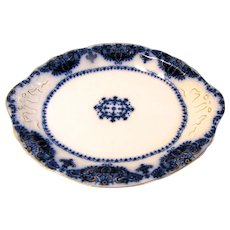 Lovely Antique Flow Blue Platter, ALBANY, Johnson Bros. c. 1900