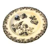 Lovely Mulberry Soup Plate/Bowl VINE BORDER J.&M.P.Bell & Co