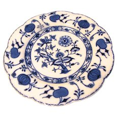 Lovely Flow Blue Plate HOLLAND Johnson Bros. Ca 1891