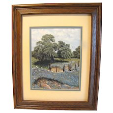 Limited Edition Print of BLUEBONNET oil painting by B. Herd