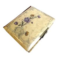 Lovely Victorian Celluloid Photograph Album, 6 Floral Pages