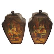 CA 1909-12 British Biscuit Tin, FLEMISH VASE, Huntley & Palmers