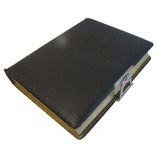 Lovely Victorian Leather Photograph Album, Lithographed Pages