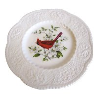 Lovely Royal Cauldon Bird Plate, CARDINAL