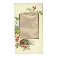 Lovely Pink Roses Decorating Page from Victorian Photo Album