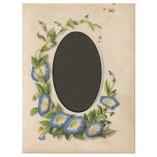 Page from Small Victorian Photograph Album, Morning Glories