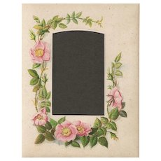 Page from Small Victorian Photograph Album, Wild Roses