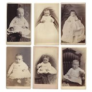 Group of Six Baby Photographs Carte-de-Visite (CDV)