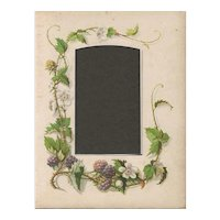 Page from Small Victorian Photograph Album, Blackberry Vine