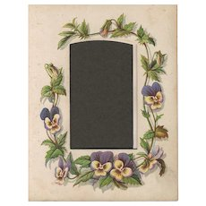 Page from Small Victorian Photograph Album, Pansies