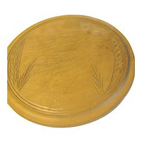 Extremely Clean Vintage Carved Round Bread Board