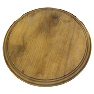Vintage Round Wooden Bread Board