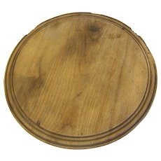 Vintage Round Wooden Bread Board