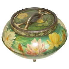 1909 WATER LILIES Biscuit Tin Huntley & Palmers, Lovely