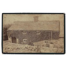 Cabinet Photograph of English Ivy-Covered House/Building