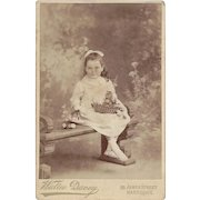 Victorian Cabinet Photograph, Young Girl with Easter Basket