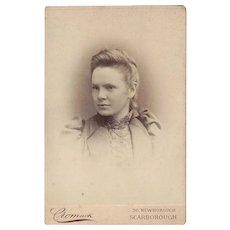 Victorian Cabinet Photograph Card Young Lady