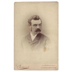 Victorian Photograph Cabinet Card Young Man