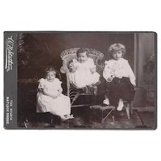 Cabinet Photograph Card of Three Young Children