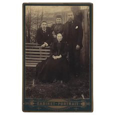 Cabinet Photograph Card ow Family of Adults