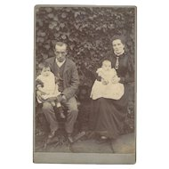 Cabinet Photograph Card of Family of Four