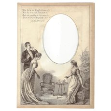 """Page from Victorian Photo Album, Sepia MonoChrome Illustration, """"He is an English Man"""""""