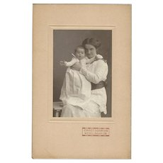 Cabinet Photograph Card, Mother & Baby