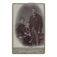 Cabinet Photograph Card of Family of 3