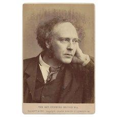 Cabinet Photograph Card, The Rev. Stopford Brooke