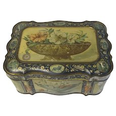 c. 1887 Antique British Biscuit Tin UNIVERSAL Huntley & Palmers
