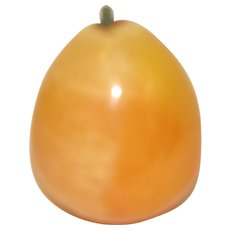 Vintage Piece of Polished Mexican Alabaster Fruit, Pear