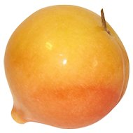 Vintage Carved and Polished Piece of Mexican Alabaster Fruit, Peach