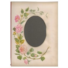 Lovely Page from Victorian Photograph Album, Pink Roses