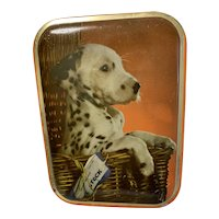 Vintage British Toffee Tin, Sharp's, Dalmatian