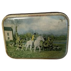 Vintage British Toffee Tin, Sharps, Fox Hunt