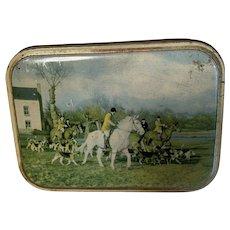 Vintage British Toffee Tin, Sharps, Fox Hunt